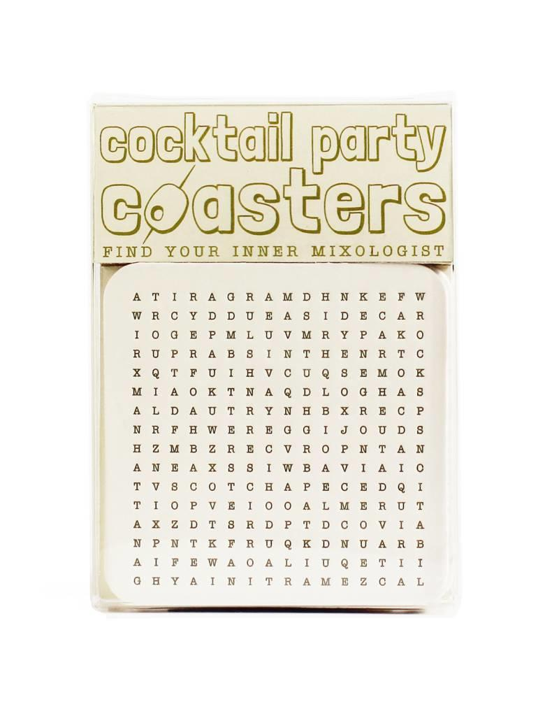 HWG hat+wig+glove - cocktail party coasters