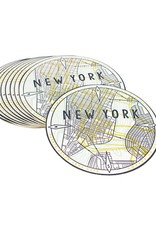 HWG hat+wig+glove - new york mapcoasters