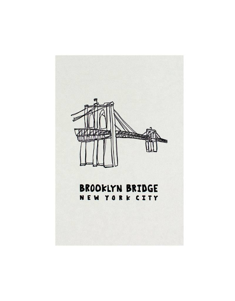 HWG hat+wig+glove - brooklyn postcard