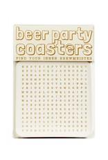 HWG beer party coasters