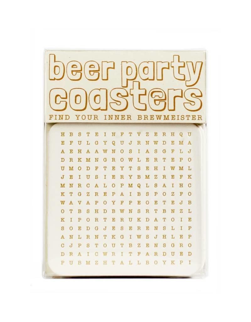 HWG hat+wig+glove - beer party coasters