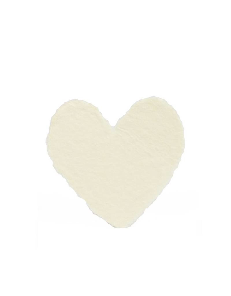 Oblation Papers & Press handmade paper - petite heart cream
