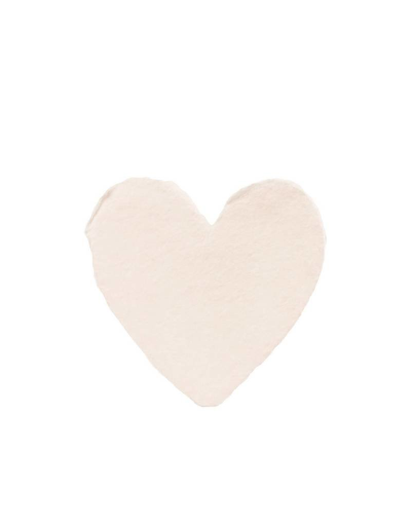 Oblation Papers & Press handmade paper - petite heart blush