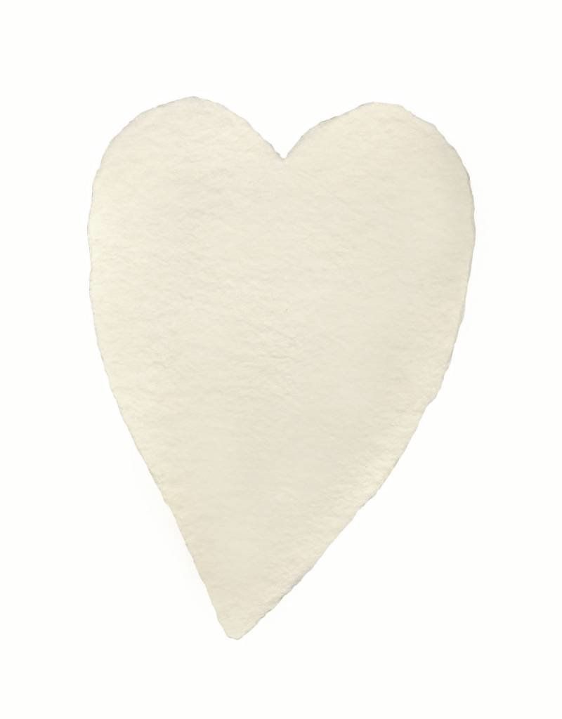 Oblation Papers & Press handmade paper - small heart cream