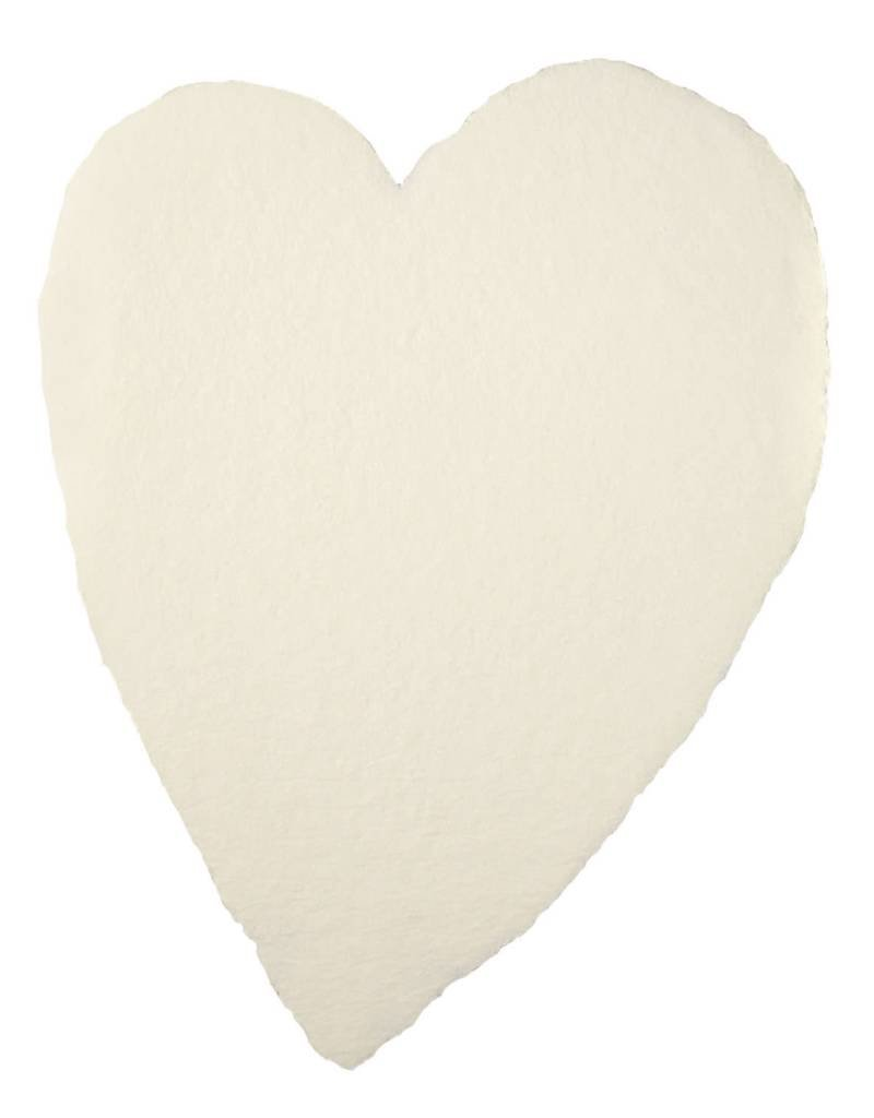 Oblation Papers & Press handmade paper - large heart cream