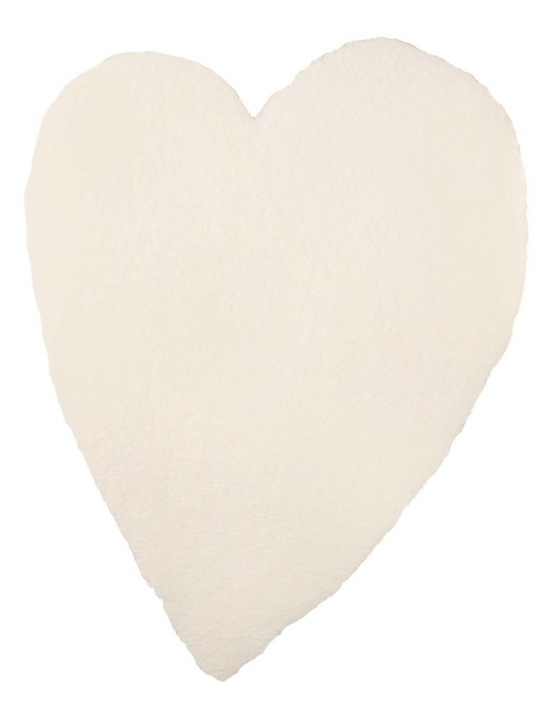 Oblation Papers & Press handmade paper - large heart blush