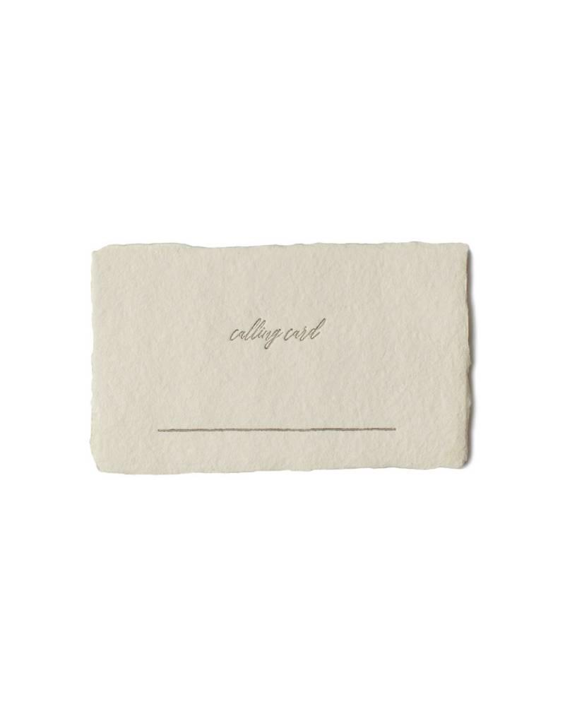 Oblation Papers & Press calling card - calling card