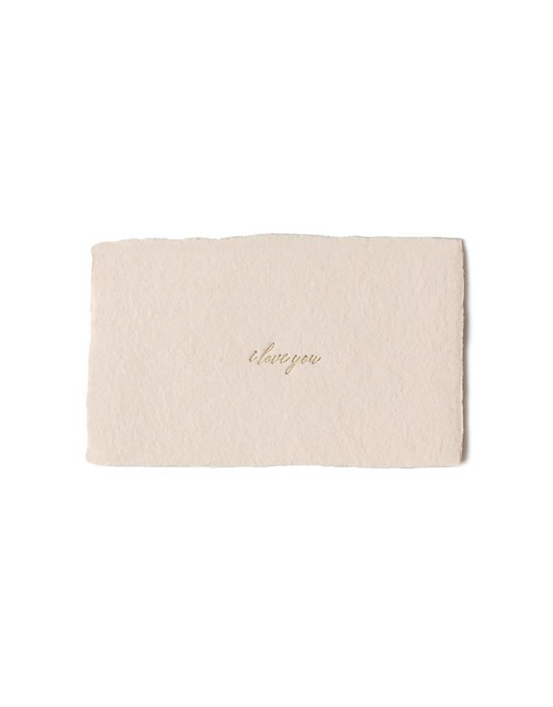 Oblation Papers & Press calling card - love