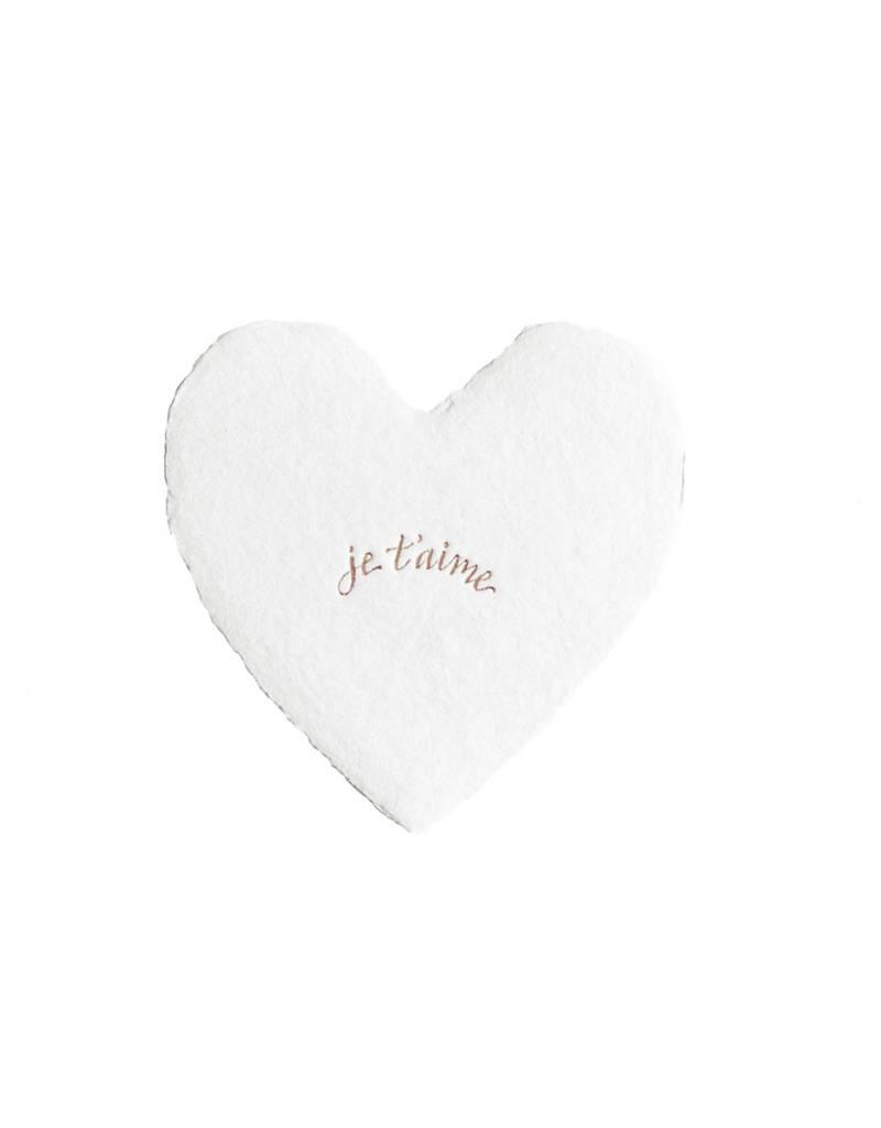 Oblation Papers & Press foil heart-je t'aime