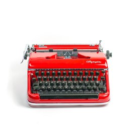 Red Olympia typewriter