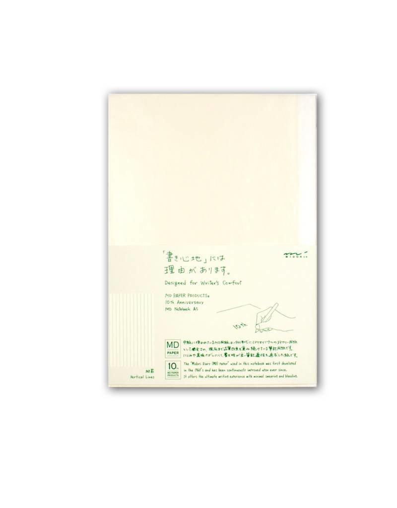Midori MD Idea Diary - A5 Vertical Lines