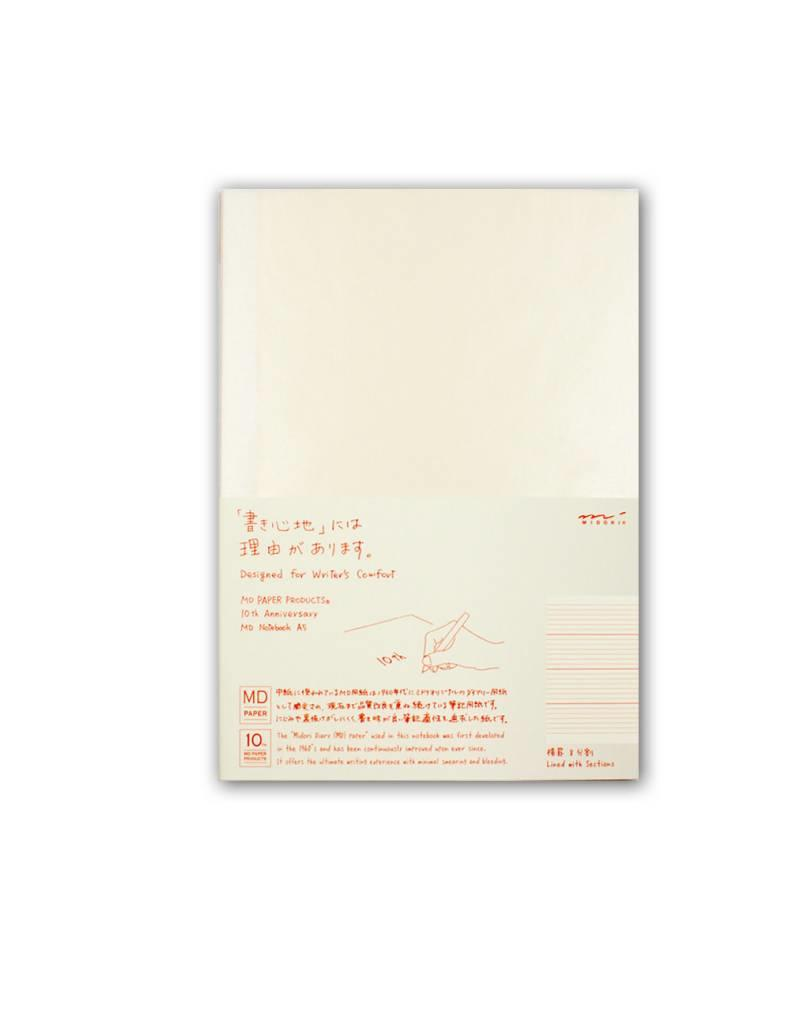 Midori MD Idea Diary - A5 Lined with Sections