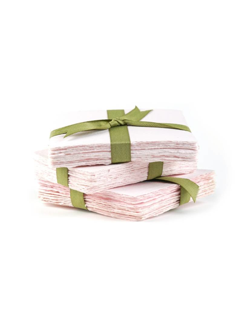 Oblation Papers & Press discontinued handmade paper- pink