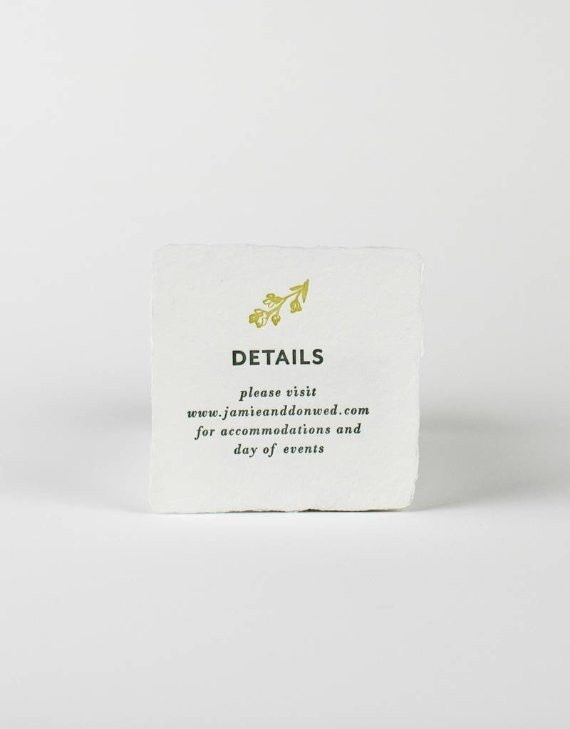Oblation Papers & Press Jamie Suite Info Card