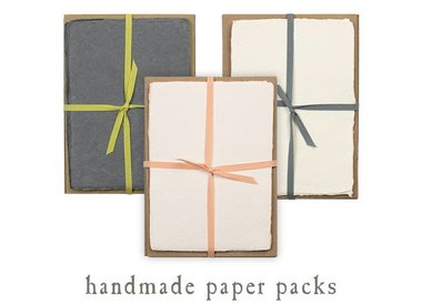 handmade paper packs