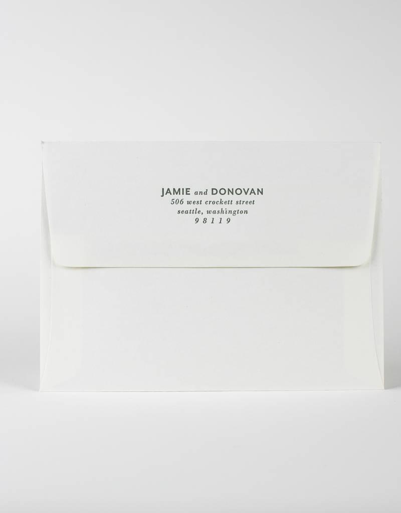 Oblation Papers & Press Jamie Envelope Printing