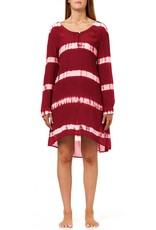 SALE - ONE SEASON MIDDY NEGIN DRESS STRIPE TIE DYE