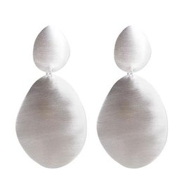 ALEXA SHIELD EARRINGS SILVER