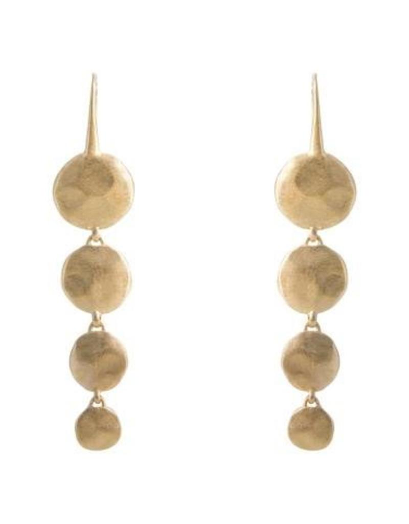 FAIRLEY ALEXA WATERFALL EARRINGS GOLD
