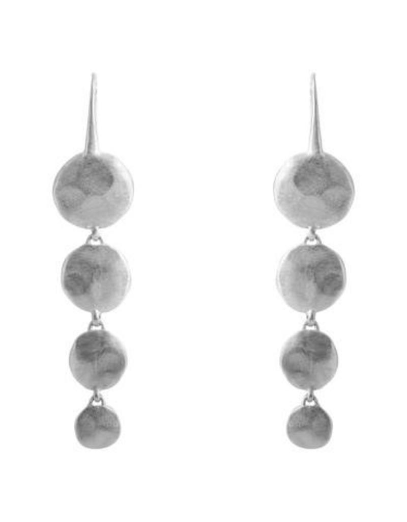 FAIRLEY ALEXA WATERFALL EARRINGS SILVER