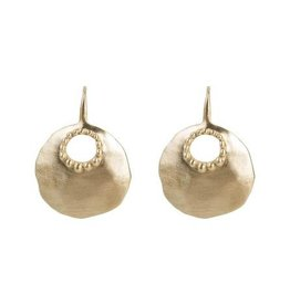 ALEXA GRANULATION EARRINGS GOLD