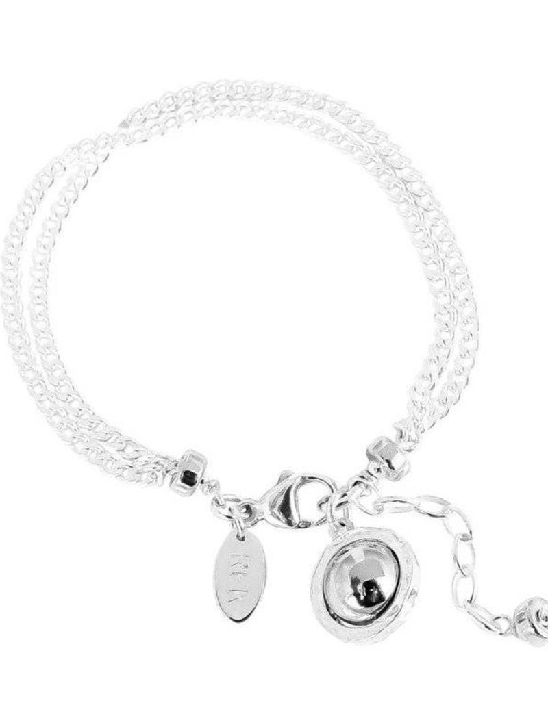 ATTICUS DOUBLE STATEMENT CHAIN BRACELET/ POLISHED SILVER