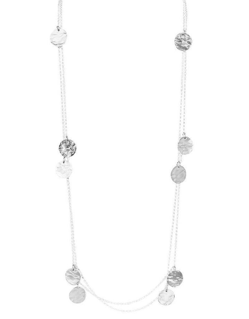 discs silver lou disc necklace initial products anna engraved london of
