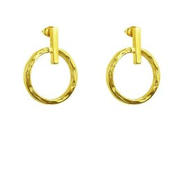 ZOE SMALL RING & POLISHED BAR EARRINGS  GOLD