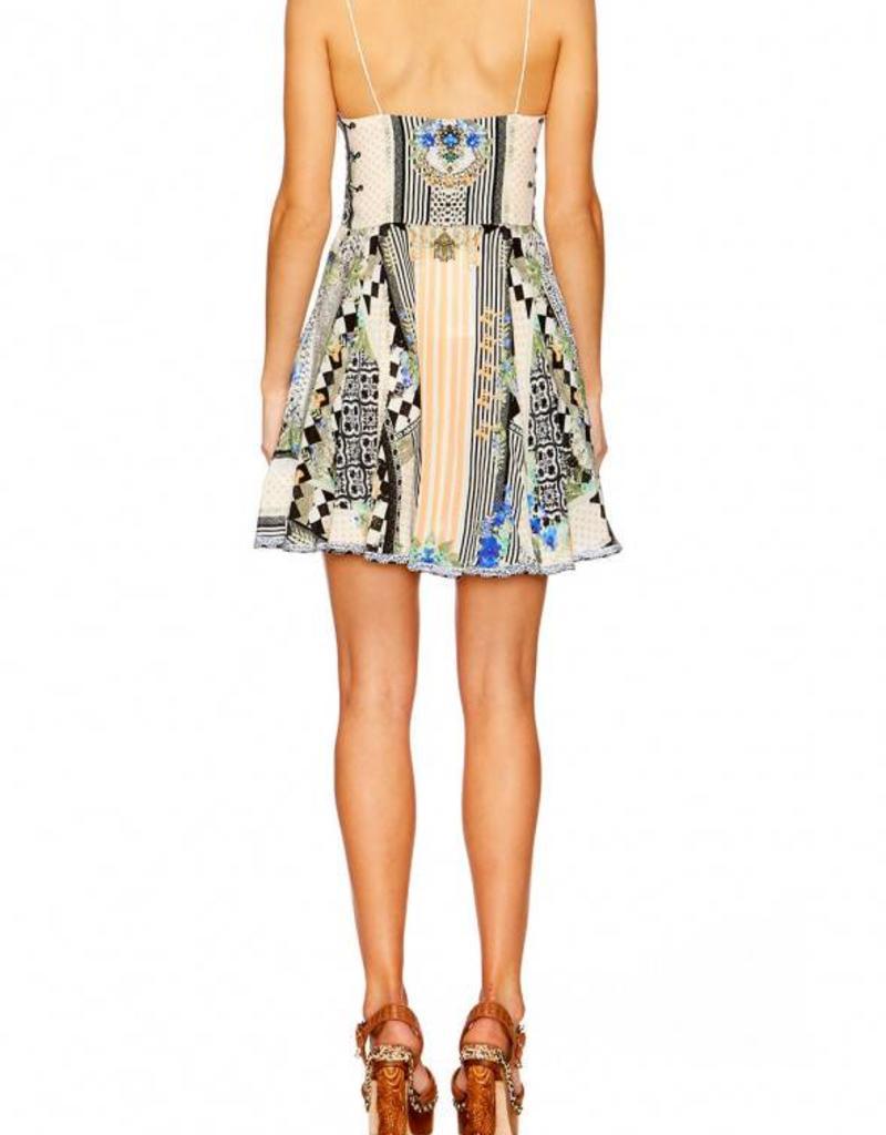 SALVADOR SECRETS SHORT DRESS W/TIE FRONT