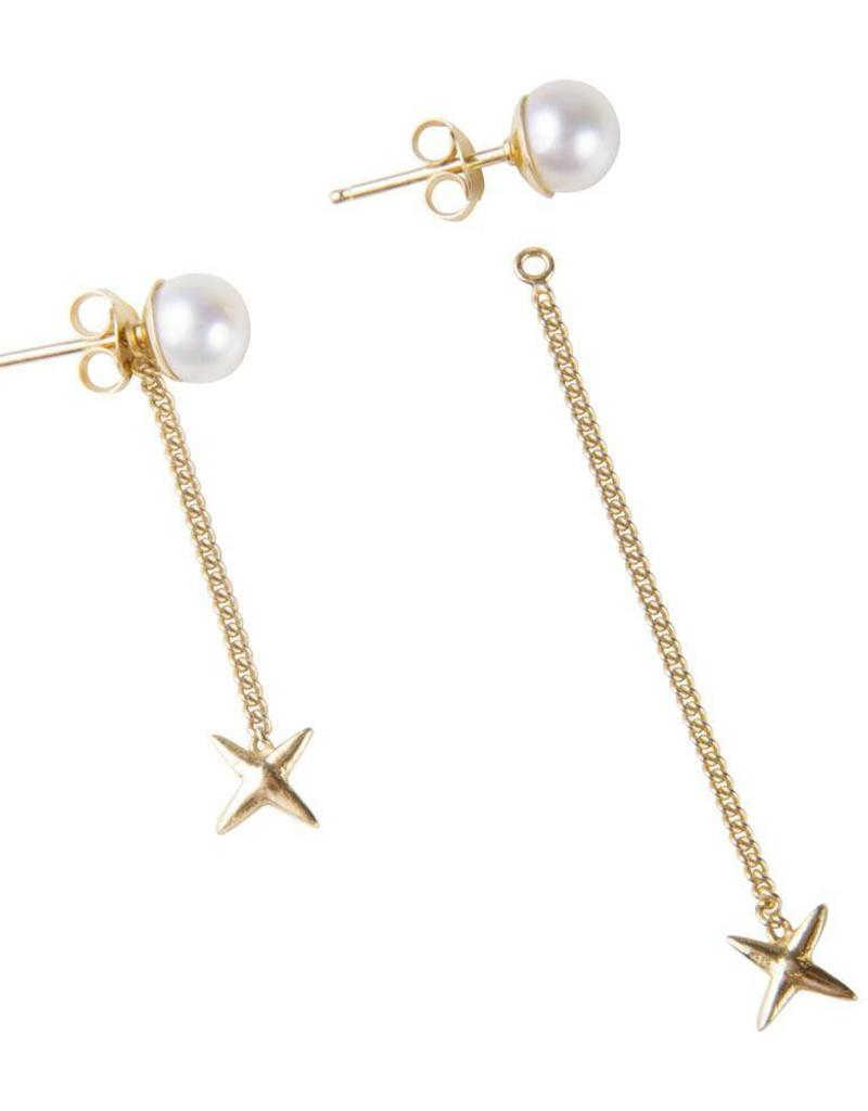 FAIRLEY PEARLY KISS STUDS GOLD
