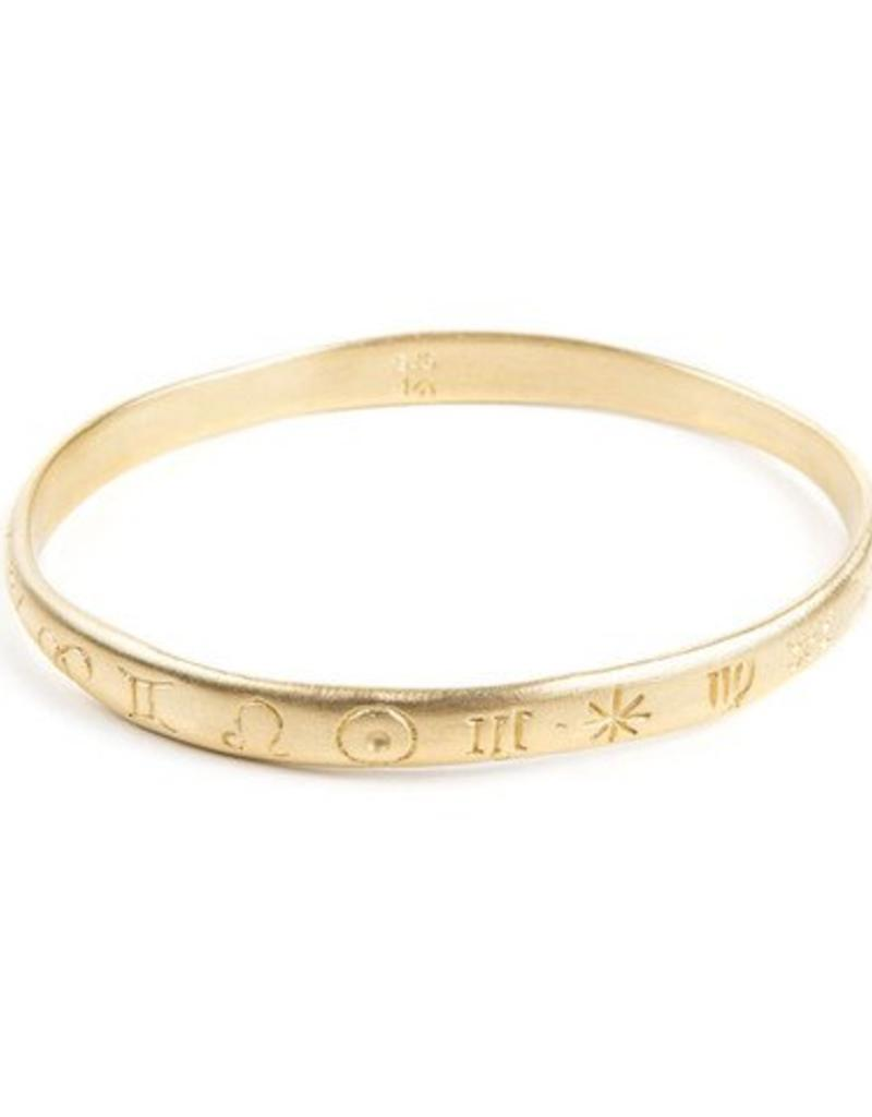 ALEXA ZODIAC BANGLE GOLD