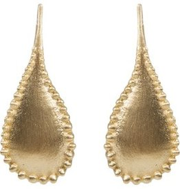 ALEXA GRANULATION TEARDROP EARRING GOLD