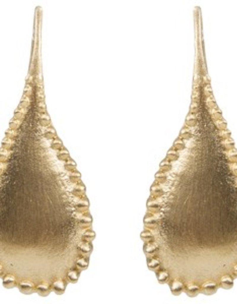 ALEXA GRANULATION TEARDROP EARRING GOLD
