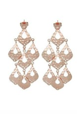 OLIVIA STATEMENT EARRINGS ROSE GOLD