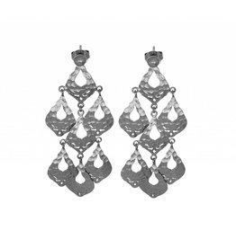 OLIVIA STATEMENT EARRINGS  SILVER