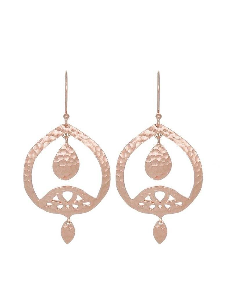 DOMINIQUE STATEMENT EARRING ROSE GOLD