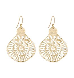 DAPHNE LARGE ORNATE EARRING YELLOW GOLD