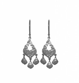 OLIVIA MULTI PETAL DROP EARRING SILVER