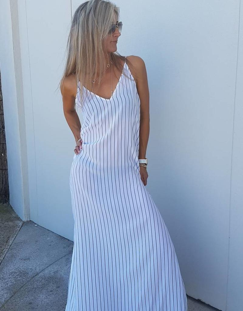 MELA PURDIE CRYSTAL MAXI DRESS POETS STRIPE