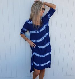 MIDDY NEGIN DRESS STRIPE TIE DYE