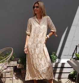 CHARLIE DRESS EMBROIDERY CHAMPAGNE