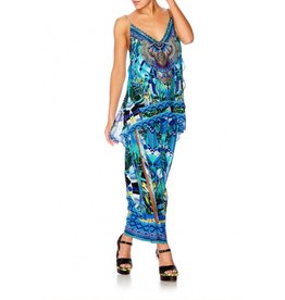 AMAZON AZURE MULTI LAYER V NECK TOP