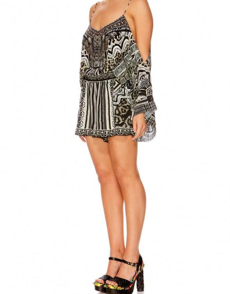 CAMILLA TRIBAL THEORY DROP SHOULDER PLAYSUIT