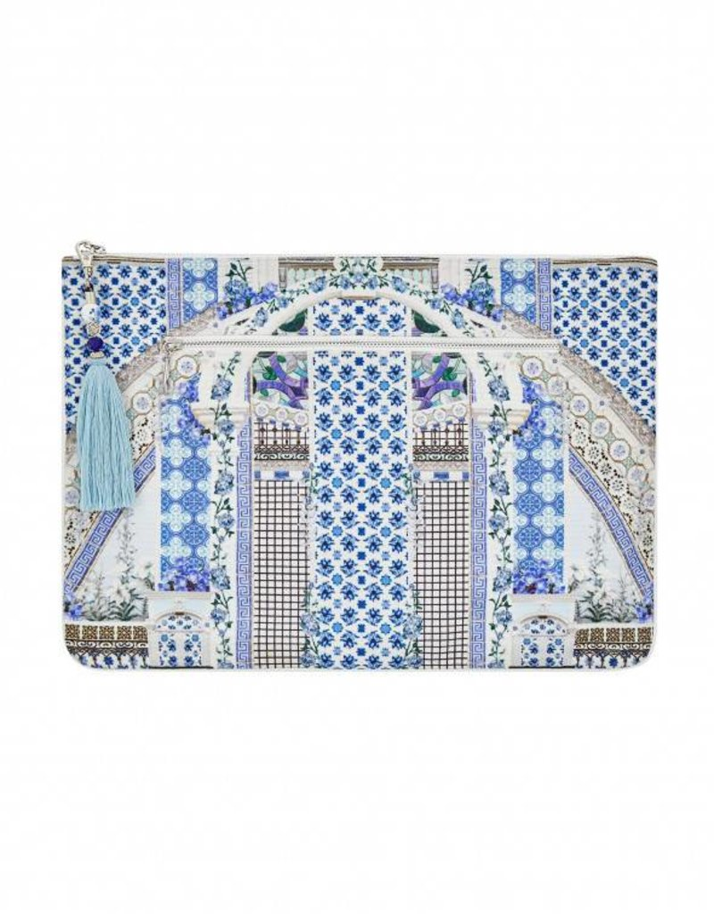 CAMILLA SALVADOR SUMMER LARGE CANVAS CLUTCH