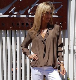 MELA PURDIE RIBBON SHIRT NUTMEG