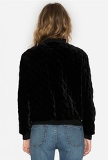 JOHNNY WAS QUILTED BOMBER JACKET BLACK