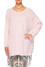 CAMILLA LADY LAKE  LONG SLEEVE JUMPER W/ PRINT BACK