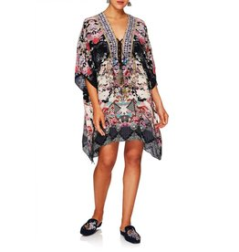 CAMILLA NIGHTS WITH HER SHORT LACE UP KAFTAN
