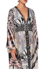 CAMILLA IN HER SHOES KIMONO SLEEVE DRESS W/SHIRRING DETAIL