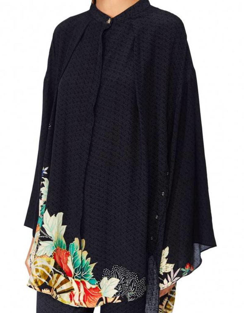 CAMILLA MIDNIGHT MOONCHILD KIMONO  SLEEVE BLOUSE